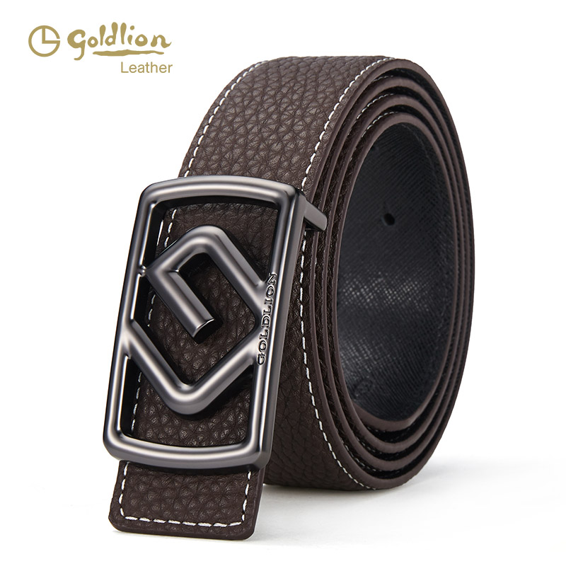/Mens casual business leather letter belt