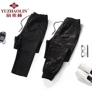 俞兆林 男士修身束脚迷彩裤子