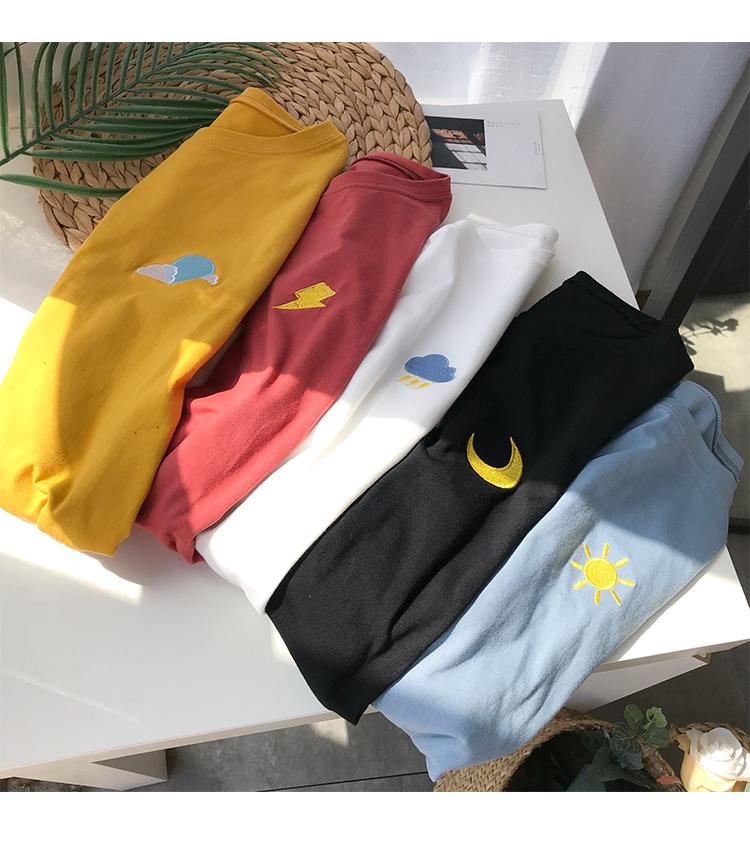 Hong Kong phong cách mùa hè xu hướng mới cá tính thêu sinh viên không tay T-Shirt phim hoạt hình thể thao nam giới và phụ nữ đáy áo mồ hôi vest