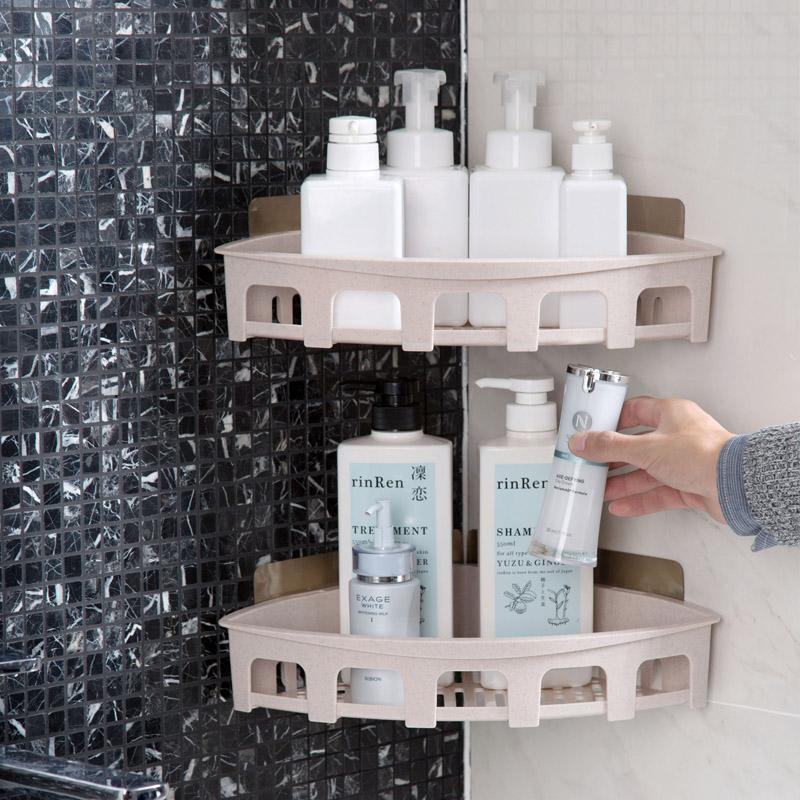 Перфорация настенный штатив хранение полка мойте руки между угол мыть полка ванная комната ванная комната хранение полка стеллажи