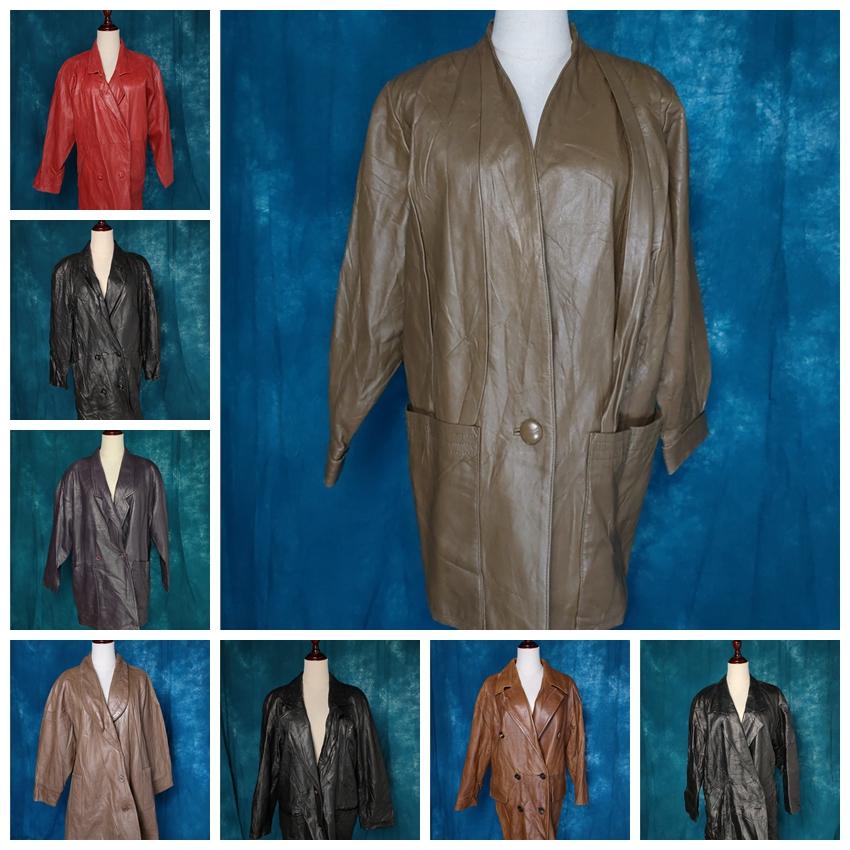 古着复古vintage西装皮衣外套真皮风衣夹克7