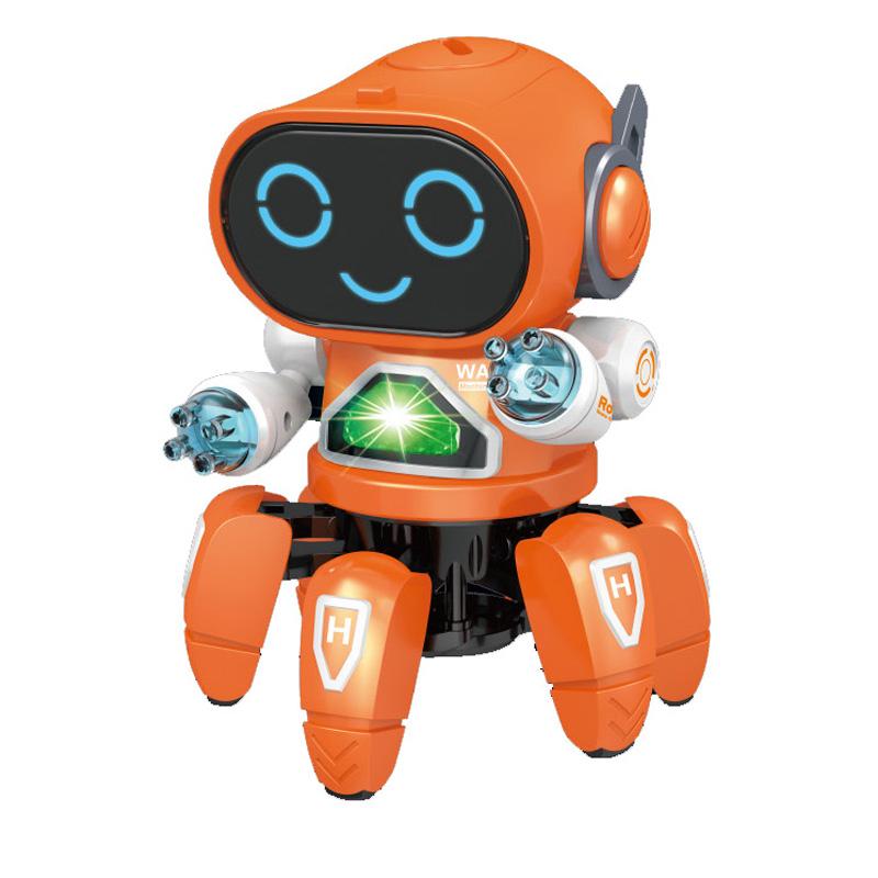 2019跨境新品跳舞電動機器人六爪魚炫酷燈光音樂男女孩兒童玩具禮