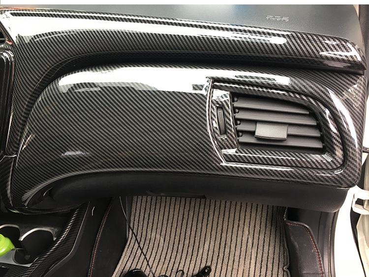 Bộ ốp nội thất màu đen cacbon Honda City - ảnh 2