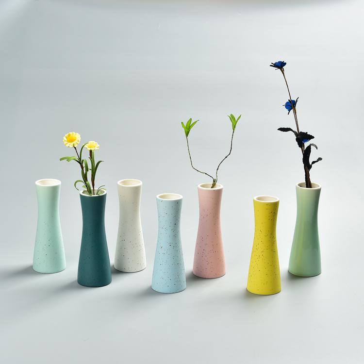 马卡龙花插 摆件陶瓷水培创意简约小花瓶家居装饰品花器桌面批发