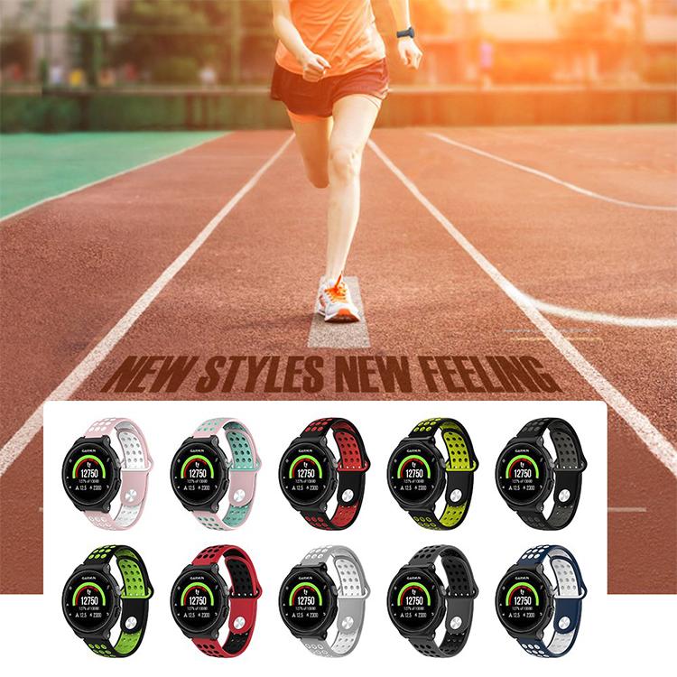 手錶配件 適用佳明Garmin forerunner220/235/620/630/735XT手表表帶硅膠腕 優品百貨