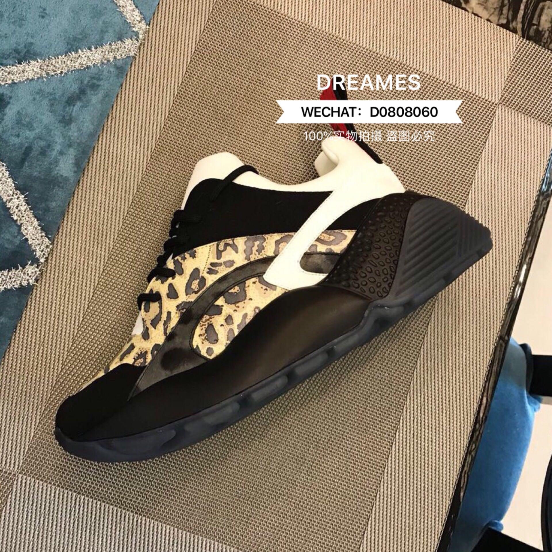 INS ветер 2019 новая весна и лето мода обувь женский подошва кружево мелочь обувной спортивной обуви леопард сливки 579859669982