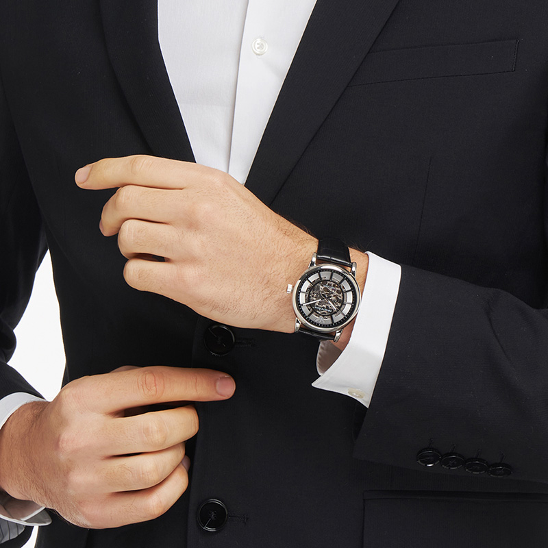 【双十一预售】Armani阿玛尼手表男运动轻奢经典镂空机械表AR1981