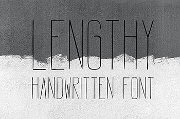 个性字体LENGTHY | All Caps Brush Font
