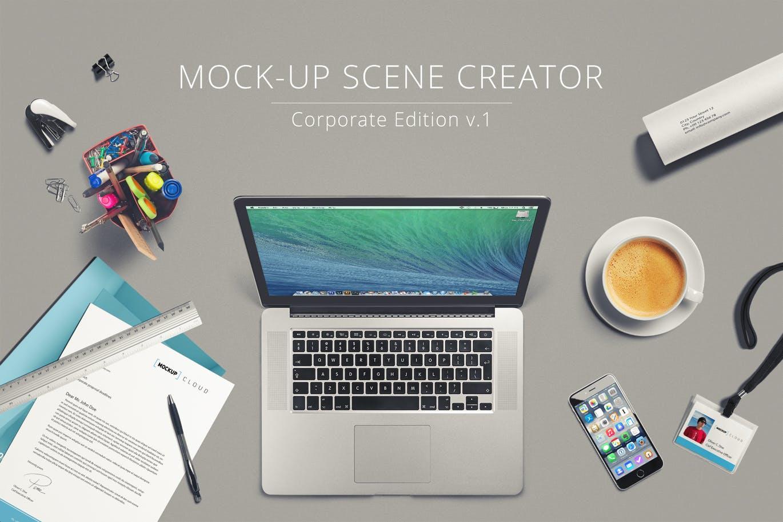 多用途的办公文具场景品牌VI样机展示模型mockups大集合设计素材模板