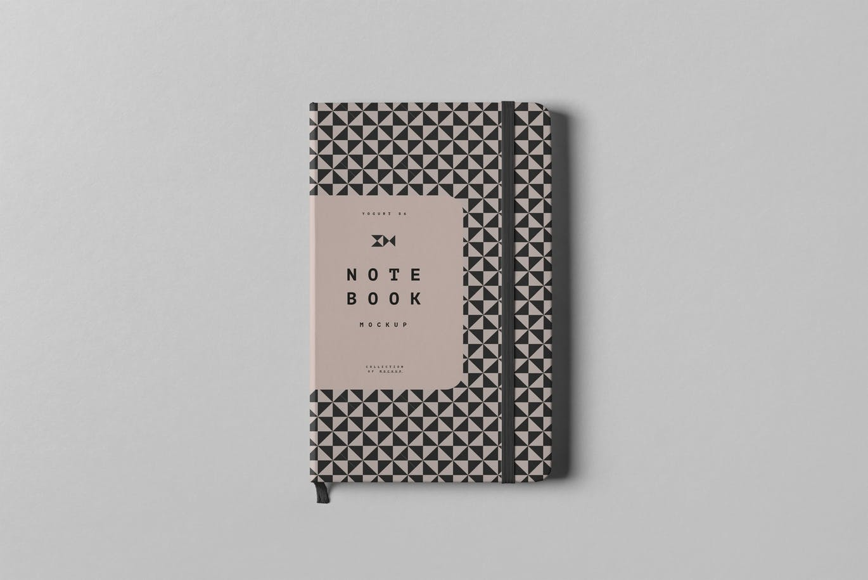 高品质的高端时尚轻奢商务商业质感的笔记本VI样机展示模型mockups设计素材模板