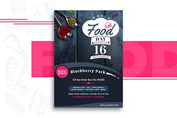 世界粮食日时尚海报宣传单DM设计模板