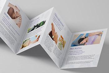 高品质的时尚高端房地产七折页海报宣传单DM设计模板
