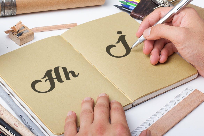 条蜜水墨手写书法时尚优雅的Sweet Ink字体设计素材模板