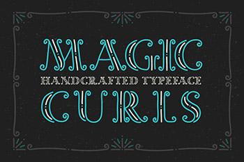 """魔幻卷曲装饰的字体 Decorative font """"Magic Curls"""""""