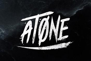 霸气的笔刷效果字体 Atone - Brush Font