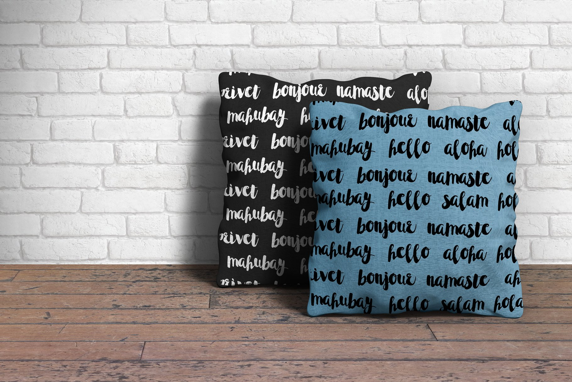 冬季味道的字体图形素材 Winter Tales - cozy font trio设计素材模板