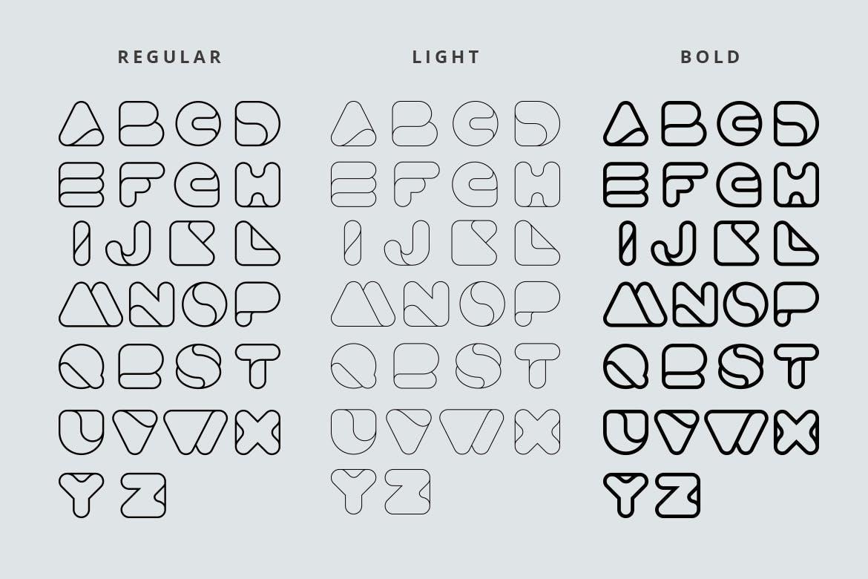 时尚的可用于高科技互联网的Advio英文字体设计素材模板