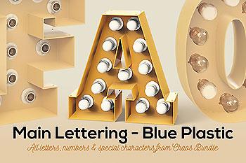 颓废工业生锈质感的跑马灯灯泡黄色3D立体字母英文数字集合