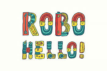 卡通彩色字体 Cartoon colorfull robo font