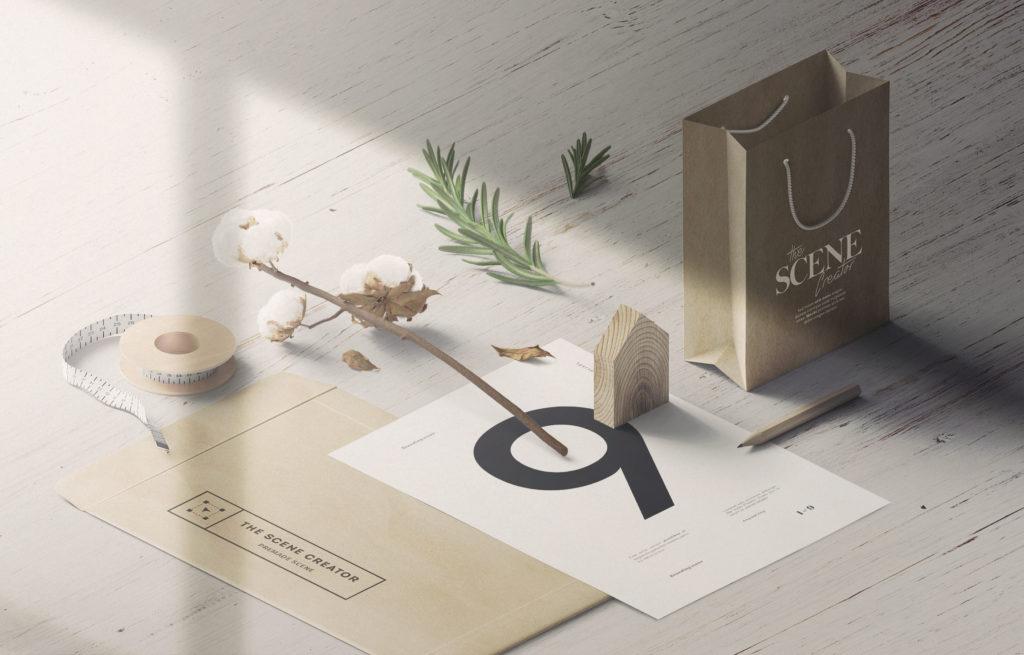 高品质商务贴图场景展示样机设计素材模板