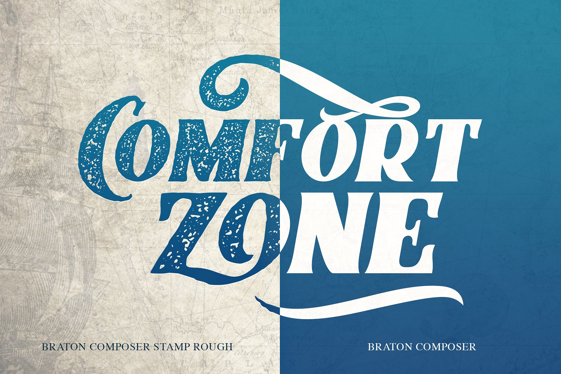 优雅的手绘字体合集 Braton Composer Typeface设计素材模板