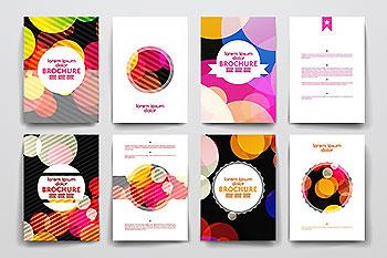 抽象图形宣传单折页DM单画册模板 Set of Abstract Brochures