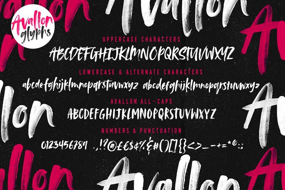 Adobe 标准 OpenType-SVG 字体 Avallon OpenType-SVG Font设计素材模板