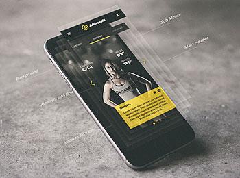 新鲜的酷炫手机APP分层展示模型样机贴图Mockup下载[PSD]
