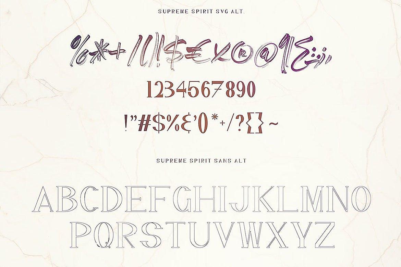 无衬线字体手写流畅涂鸦平滑笔触英文艺术文字设计素材模板
