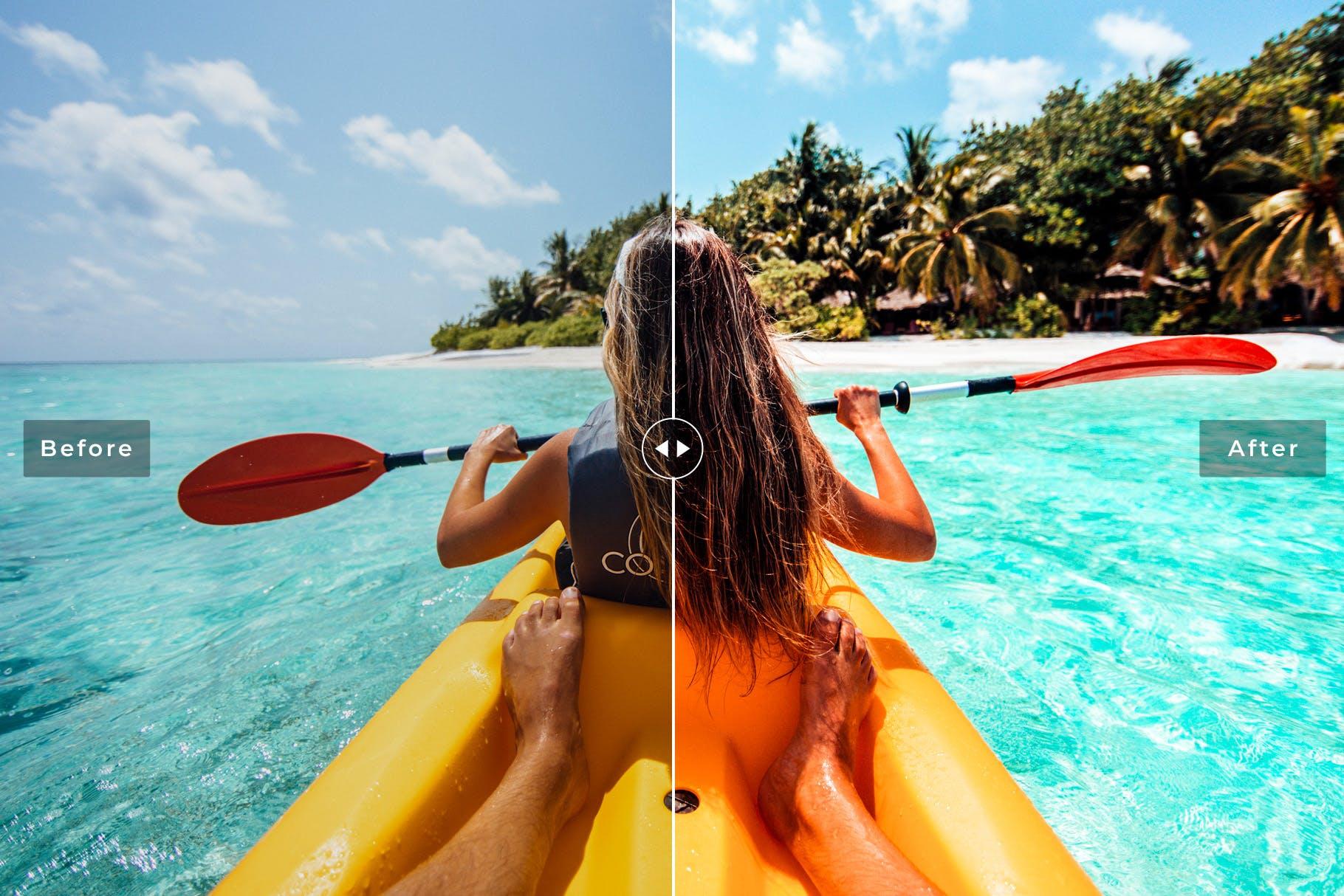 明亮/柔和/褪色自然多彩色调Lightroom预设 Riviera Maya Mobile & Desktop Lightroom Presets设计素材模板