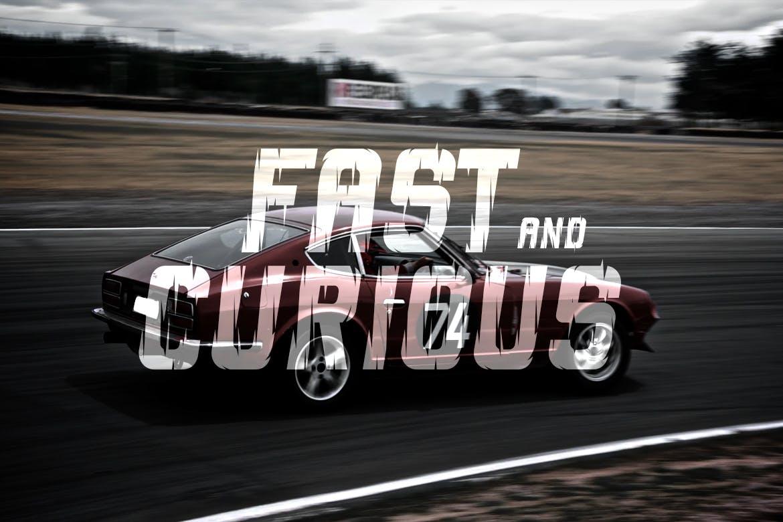 独特动感艺术风格英文无衬线字体 Escalated – Fast Motorsport Racing Font设计素材模板