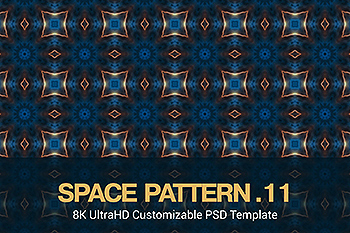 8K超高清太空主题抽象四方连续图案无缝背景素材v11 8K UltraHD Seamless Space Pattern Background