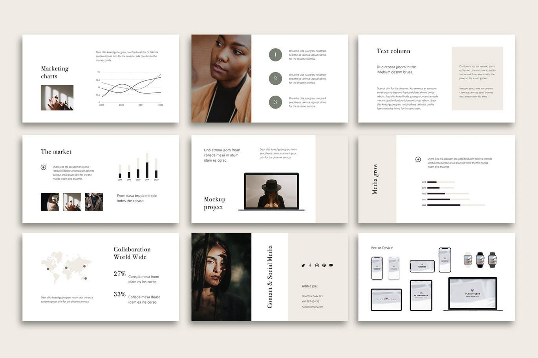 高端时尚优雅多用途的高品质keynote幻灯片演示模板(key)设计素材模板