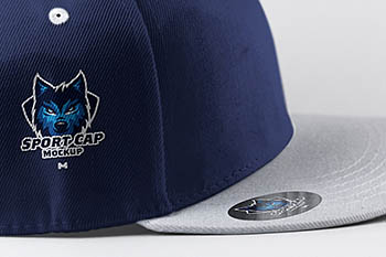 运动帽侧视图模型 Sports Cap Side View Mockup 01