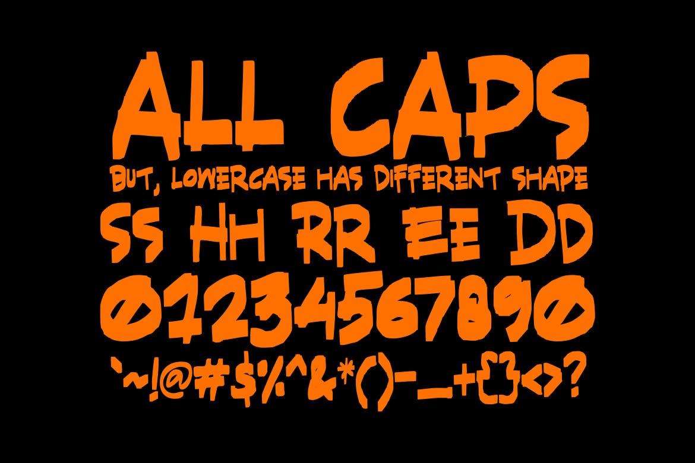 充满力量的英文画笔笔刷装饰艺术字体 SHRED! – Aggressive Brush Font设计素材模板