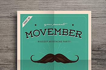 热门活动事件传单海报模板 Movember Event Flyer