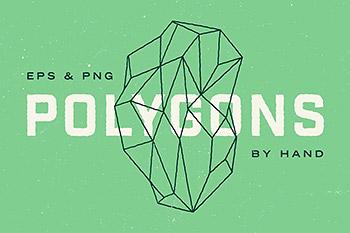 背景图形抽象多边形图形 Geometric Polygons