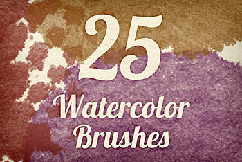 毛边水彩笔刷 Watercolor Strokes Brush Pack 3