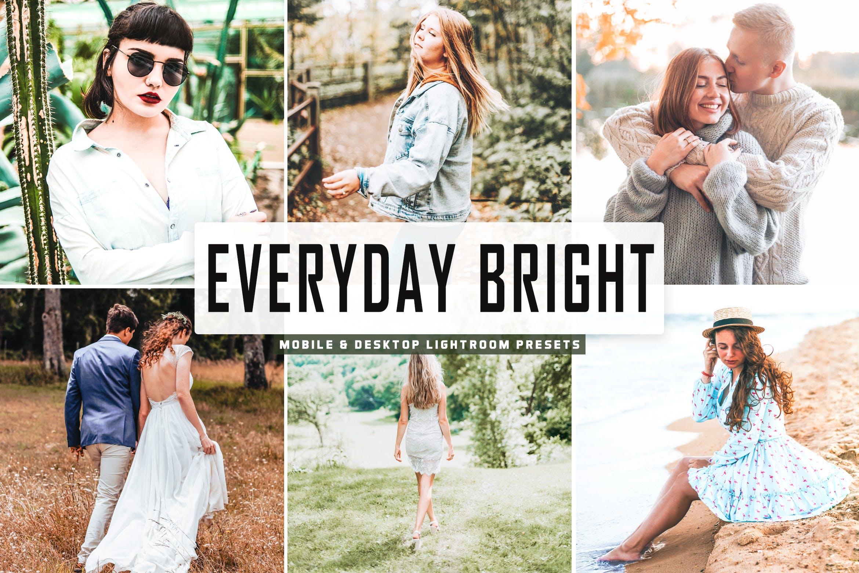 小清新人像摄影作品肤色增强调色滤镜LR预设v2 Everyday Bright Pro Lightroom Presets V2设计素材模板
