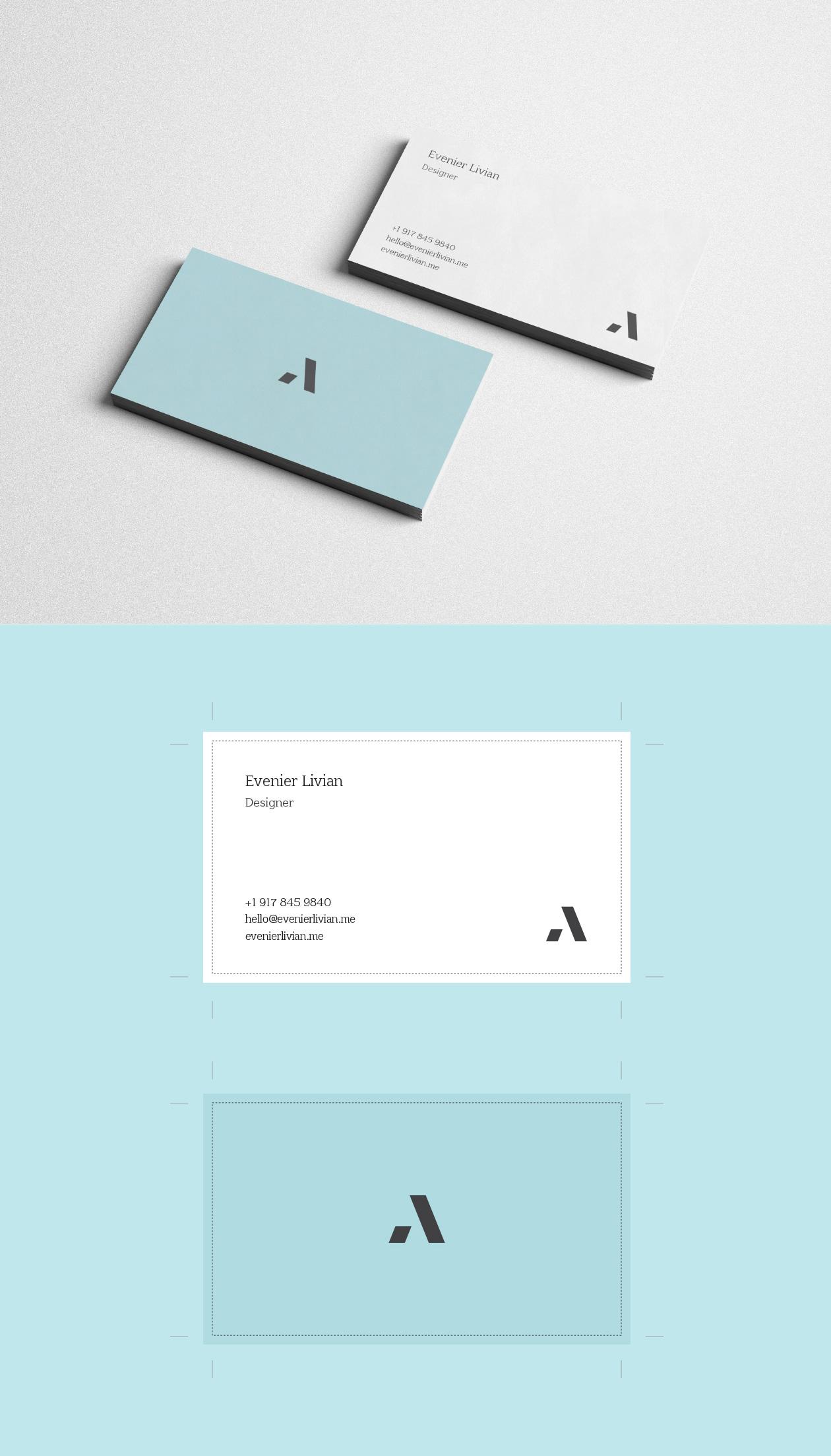 清新时尚的极简主义名片模版下载[ai格式]设计素材模板