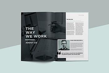 时尚高端简约多用途的品牌手册楼书杂志宣传册画册设计模板