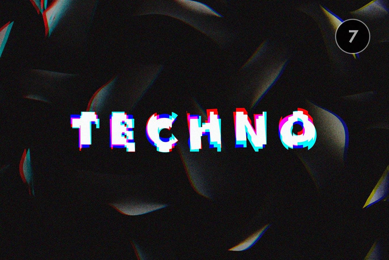 图层样式网红抖音撞色风格的时尚高端小故障文本效果大集合设计素材模板
