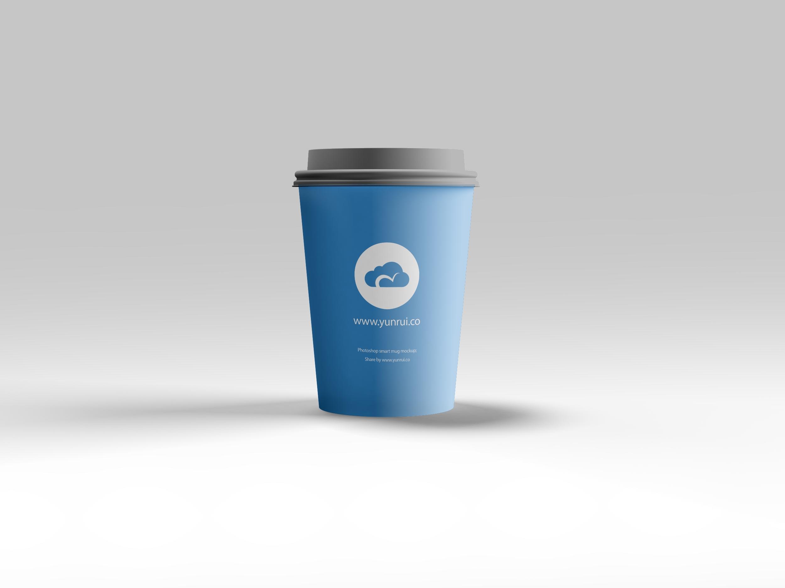 一个完美的纸杯设计展示模型(Mockup)PSD下载设计素材模板