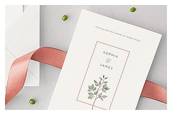 时尚高端简约多用途的高品质婚礼VI设计模板(PSD,PDF)