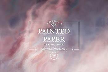 Painted Paper Textures Petal 云雾肌理背景纹理