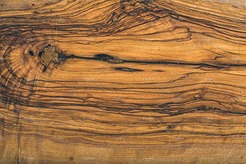 旧橄榄木板纹理或背景 Old olive wood slab texture or background