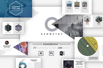 PPT模板多几何设计图形创意 ppt素材 精美商务ppt模板下载[PPTX]