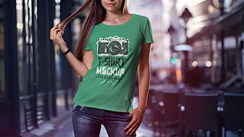 服装设计VI样机时尚高端多用途的体恤衫背心展示模型mockups