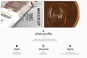 逼真的高品质巧克力包装设计VI样机展示模型mockups Y0096