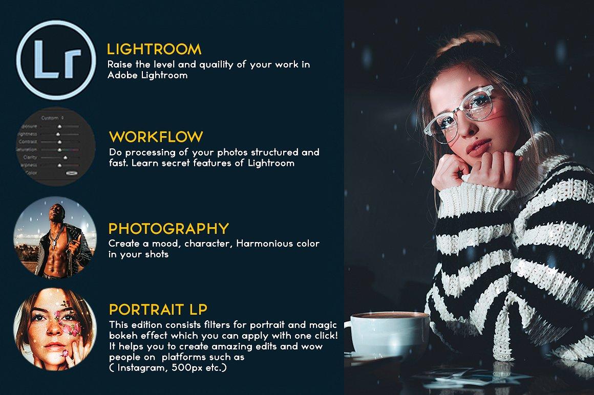 150多种时尚人像Lightroom预设 lightroom人像预设 lightroom预设下载设计素材模板